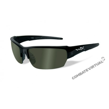 WILEY X SAINT POLARIZED GREEN GLOSS BLACK FRAME