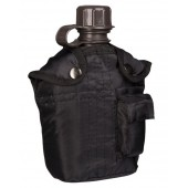 MILTEC US STYLE 1LTR.PLAST. CANT. W.COVER - BLACK