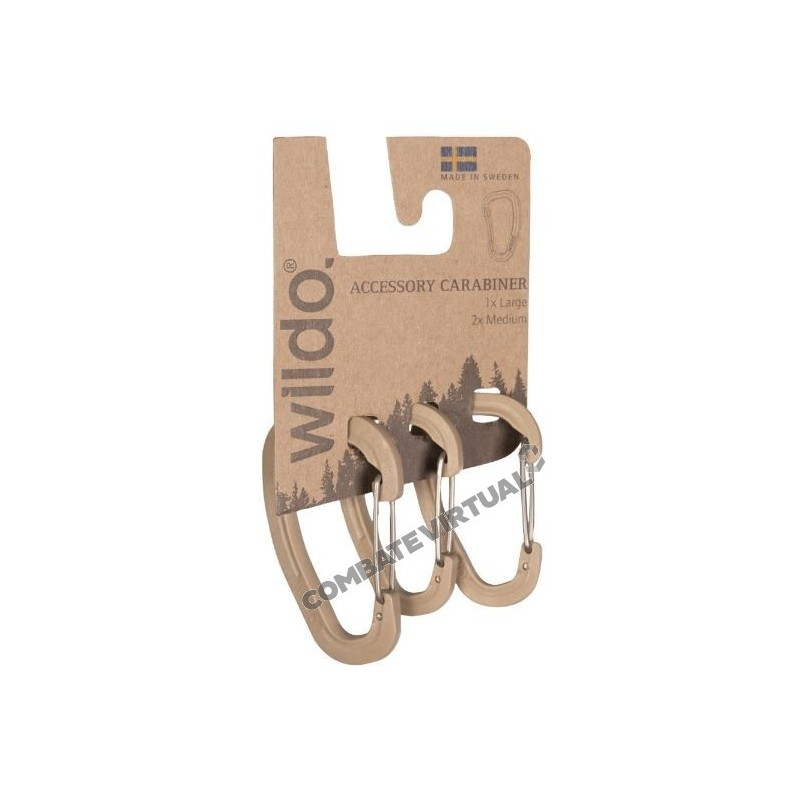 Wildo Accessory Carabiner Karabiner Set Coyote Outdoor Sports Other Camping & Hiking