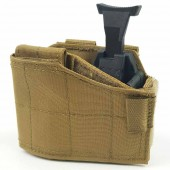 WARRIOR LEFT-HANDED UNIVERSAL PISTOL HOLSTER - COYOTE TAN