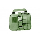 GF TACTICAL SMALL MOLLE RIP-AWAY MEDICAL POUCH - OLIVE DRAB