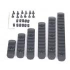 MP KEYMOD & M-LOK POLYMER RAIL SET (6 PCs) - BLACK