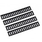 MP LADDER 18 SLOT RAIL COVER SET - BLACK