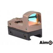AIM-O RMS REFLEX MINI RED DOT SIGHT W/ VENTED MOUNT AND SPACERS - DARK EARTH