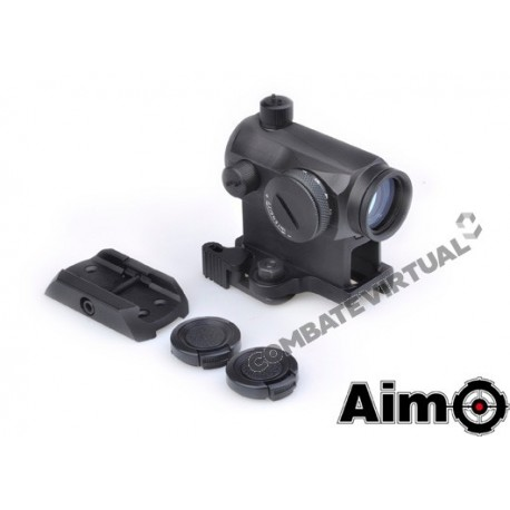 AIM-O T1 RED/GREEN DOT W/ QD MOUNT & LOW MOUNT - BLACK