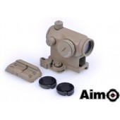 AIM-O T1 RED/GREEN DOT W/ QD MOUNT & LOW MOUNT - DARK EARTH
