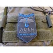 JTG ALIEN INVASION X-FILES TACTICAL UNIT PATCH AREA-51 BLUE