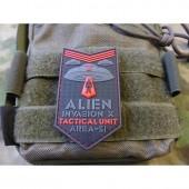 JTG ALIEN INVASION X-FILES, TACTICAL UNIT PATCH AREA-51 RED