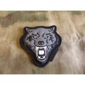 JTG ANGRY WOLF HEAD PATCH GREY