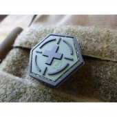 """JTG """"TACTICAL MEDIC RED CROSS"""" HEXAGON PATCH - FOREST"""