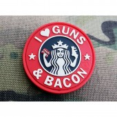 "JTG ""GUNS AND BACON"" PATCH - FULL COLOUR"