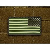 JTG US FLAG REVERSED PATCH - FOREST