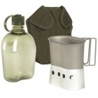 MILTEC US GEN. II CANTEEN SET (COVER, CANT., STAND) - OLIVE DRAB