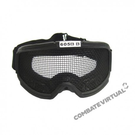 ROYAL GOGGLES WITH LARGE NET - BLACK