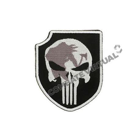 ACM NAVY SEALS TEAM 3 PUNISHER PATCH - BLACK