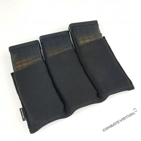 EMERSON TRIPLE M4 POUCH - BLACK PACK 3 CARREGADORES M4