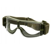 PJ PANORAMIC VENTILATED GOGGLES CLEAR - OLIVE DRAB