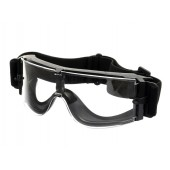 PJ PANORAMIC VENTILATED GOGGLES CLEAR - BLACK