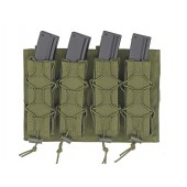 8FIELDS MOLLE SPEED QUAD MP5/SMG MAGAZINE POUCH - OLIVE DRAB