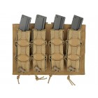 8FIELDS MOLLE SPEED QUAD MP5/SMG MAGAZINE POUCH - COYOTE