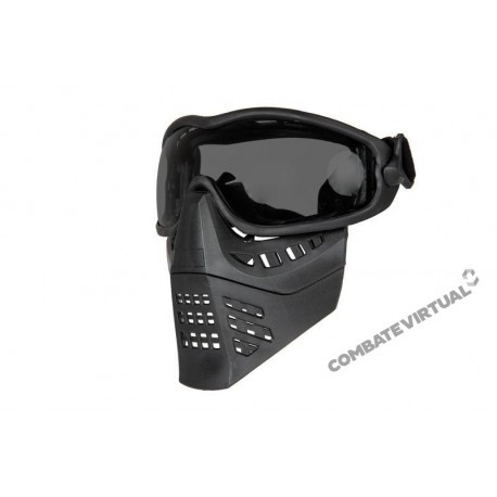 ACM MASK WITH GOGGLES - BLACK