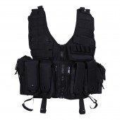101INC TACTICAL AIRSOFT VEST - BLACK