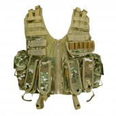 101INC TACTICAL AIRSOFT VEST - MULTICAM