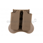 AMOMAX DOUBLE MAGAZINE HOLSTER FOR P226/M9/CZ P-09 - DARK EARTH