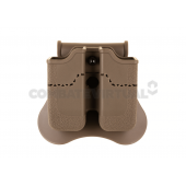 AMOMAX DOUBLE MAGAZINE POUCH FOR PX4/P30/USP/USP COMPACT - DARK EARTH