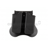 AMOMAX DOUBLE MAGAZINE POUCH FOR P226/M9/CZ P-09 - BLACK