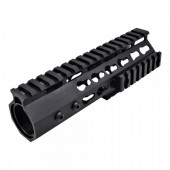 JS TACTICAL M4 SLIM KEYMOD HANDGUARD 7 INCH - BLACK