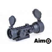 AIM-O 2X42 RED/GREEN DOT SIGHT - BLACK