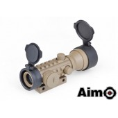 AIM-O 2X42 RED/GREEN DOT SIGHT - DARK EARTH
