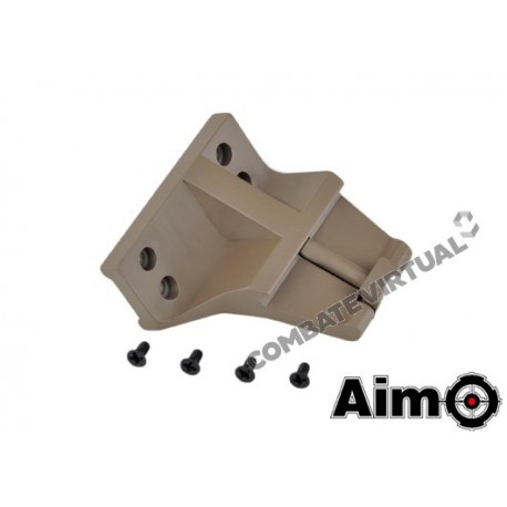 AIM-O KAC STYLE 45 OFFSET MOUNT FOR T1/T2 - DARK EARTH