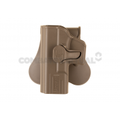AMOMAX LEFT-HANDED PADDLE HOLSTER FOR G19/ICS BLE-XAE - DARK EARTH