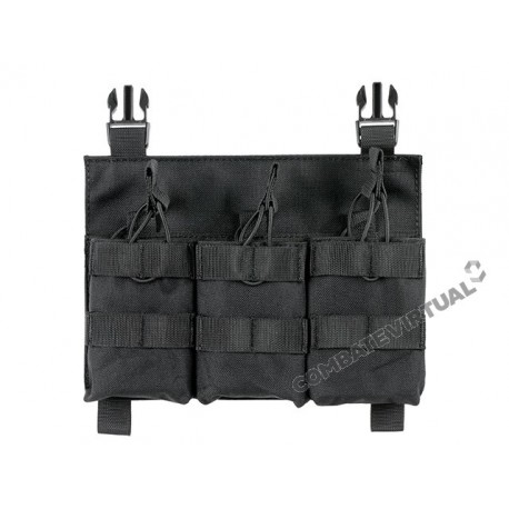 8FIELDS BUCKLE UP TRIPLE SR25/AR-10/M14/SCAR-H POUCH PANEL - BLACK