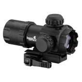 LANCER TACTICAL QD COMPACT LOW PROFILE MOUNT RED DOT - BLACK