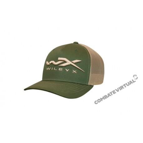 WILEY X SNAPBACK CAP ONE SIZE GREEN AND TAN