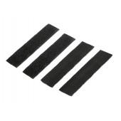 8FIELDS VELCRO WRAP STRAPS - BLACK
