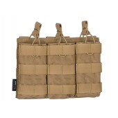 8FIELDS PREMIUM MODULAR OPEN TOP TRIPLE MAG POUCH FOR 5.56 COYOTE BROWN