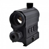 JS-TACTICAL RED DOT WITH RED LASER - BLACK