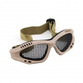 WOSPORT TACTICAL GOGGLES WITH STEEL MESH - TAN