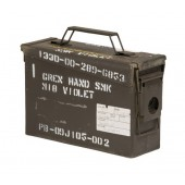 US SURPLUS SMALL METAL CAL.30/7.62 AMMO BOX