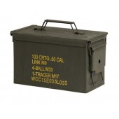 US SURPLUS MEDIUM METAL CAL.50/5.56 AMMO BOX - USADO