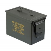US SURPLUS MEDIUM FAT 50 METAL AMMO BOX - USADO