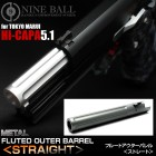 NINE BALL HI-CAPA 5.1 FLUTED OUTER BARREL (STRAIGHT)