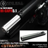 NINE BALL HI-CAPA 5.1 FLUTED OUTER BARREL (STRAIGHT)