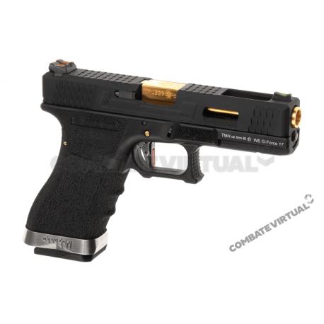 WE G17 T1 - BLACK SLIDE / GOLD BARREL / BLACK FRAME