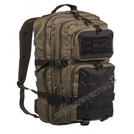 MILTEC US ASSAULT PACK LG (36L) RANGER - GREEN/BLACK