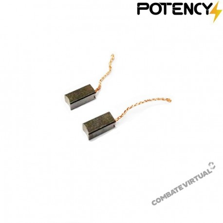 POTENCY PAIR OF BRUSHES FOR AIRSOFT MOTOR POTENCY®